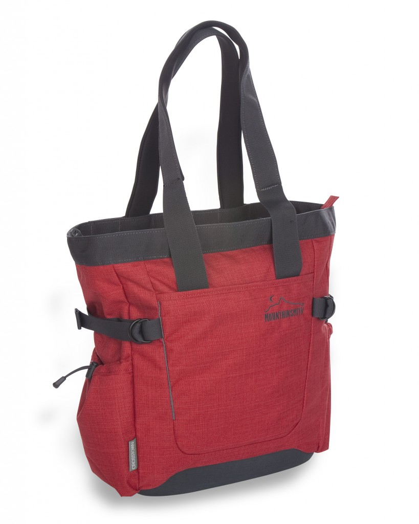 The Mountainsmith Crosstown Tote in pompei red from the Front Range Series