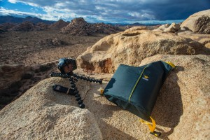 Mountainsmith kit cube with a tripod set up in joshua tree national park by scott hardesty