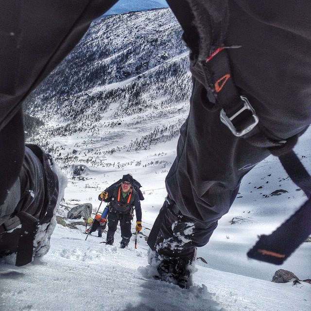 mountaineering photo by Chris Vultaggio
