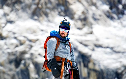 Mountain Climber Chris Bombardier climbs Mount Everest en route to the Seven Summmits