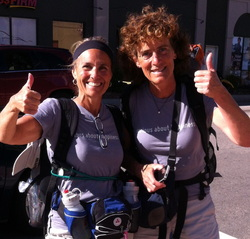 Paula Francis and Linda Wheatley of the Happiness Walk