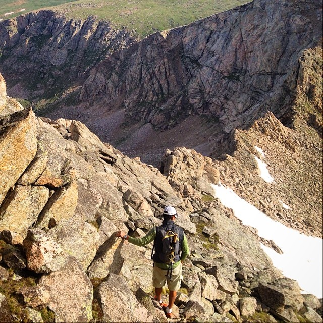 Mountainsmith President Jay Getzel looks across the daunting Sawtooth Ridge