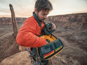 Andy Mann of 3 Strings Productions uses the Mountainsmith Descent camera sling bag for his photography pack needs in the Canyonlands, Utah.