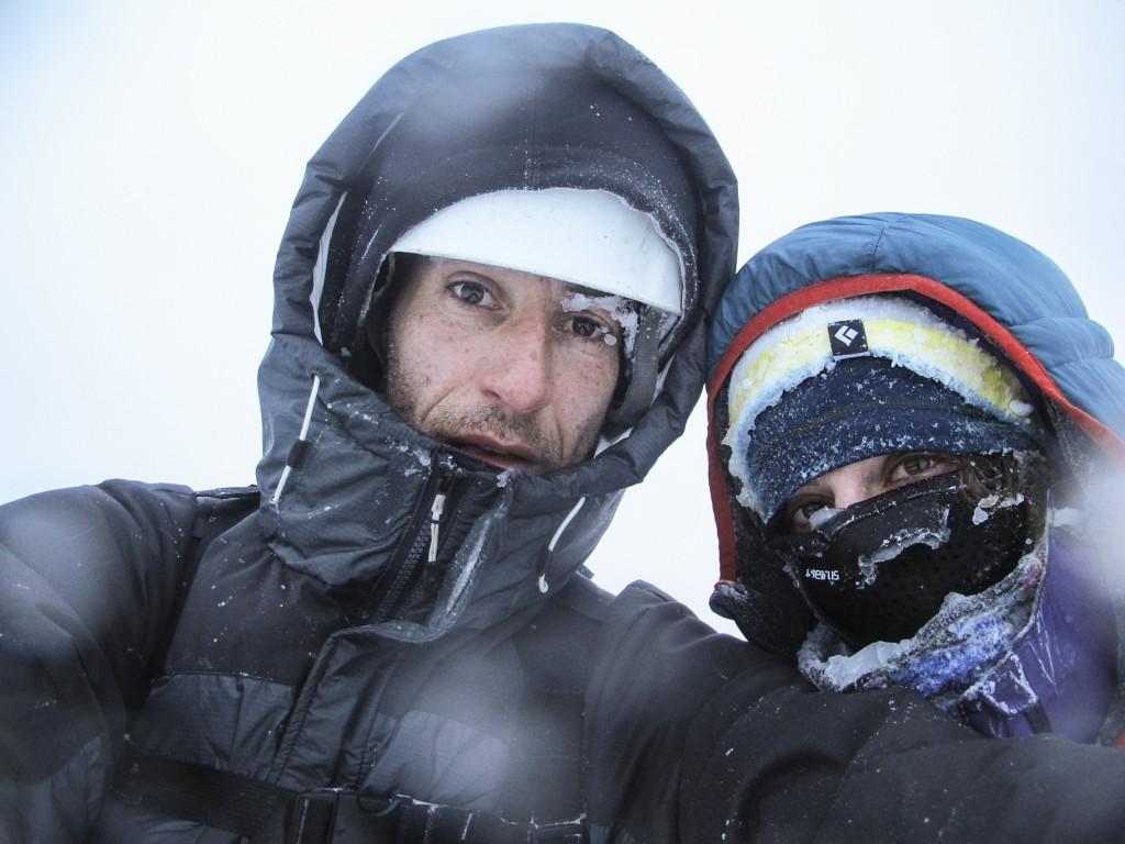 Chris Vultaggio and Laura Sasso, selfie in the snow