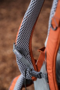 Super comfortable straps and patented Anvil Airway on the Mountainsmith Mayhem 35 backpack