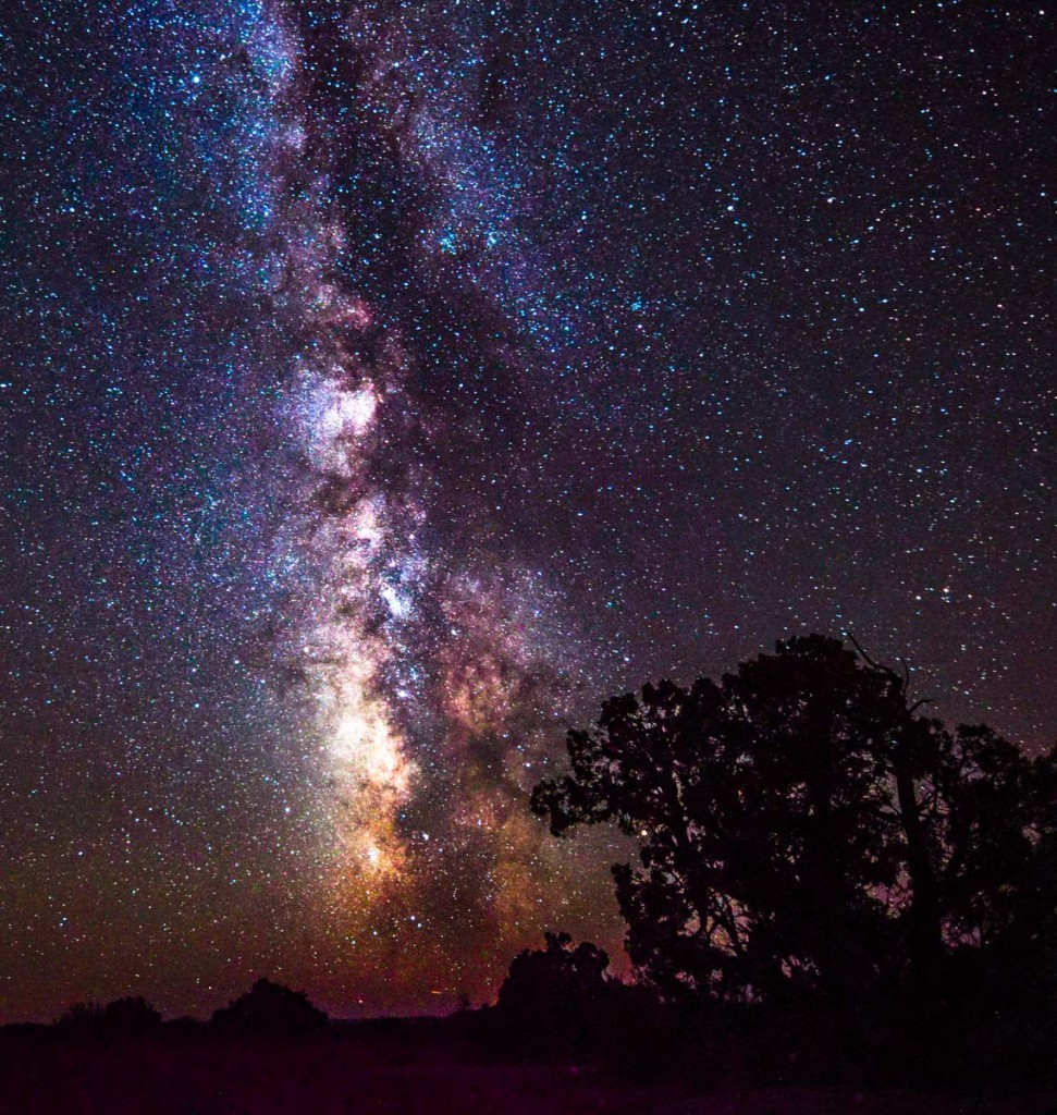 The milky way as seen from the desert outside moab utah by mineral bottoms