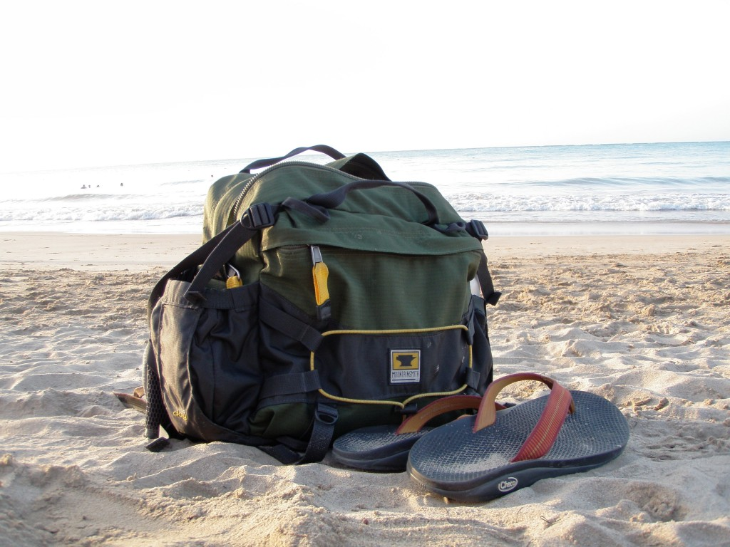 The Mountainsmith Day TLS on a beach in Culebra Puerto Rico