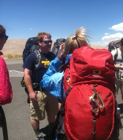 One of the ladies in the crew carried the Juniper 55 backpack, engineered specifically for women.