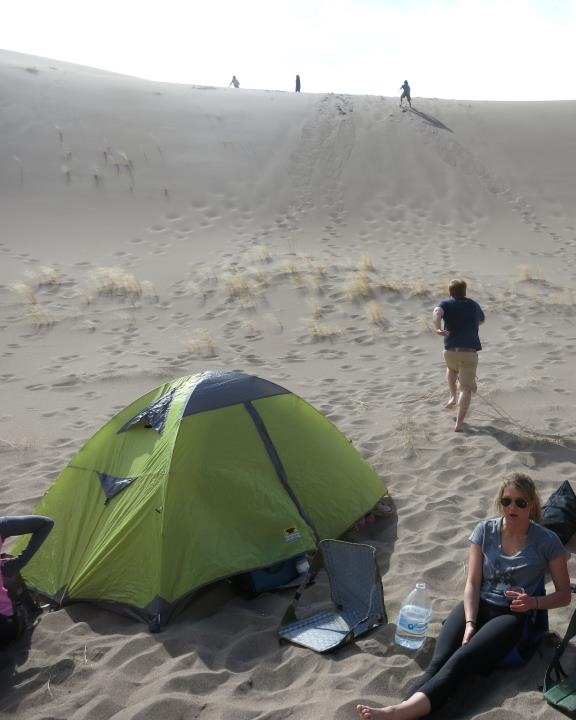 combing the desert and running up the great sand dunes with the morrison 2 in the foreground