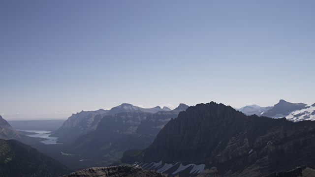 Glacier National Park from a helicopter with a RED epic camera
