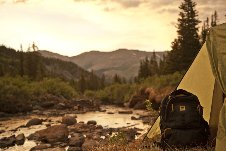 Mountainsmith Spectrum Backpack in front of a brook