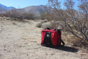 Mountainsmith Bike Cube Deluxe in a desert