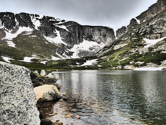 Colorado high country lake.  Photo by Jonathan Hill, Mountainsmtih Brand Ambassador.