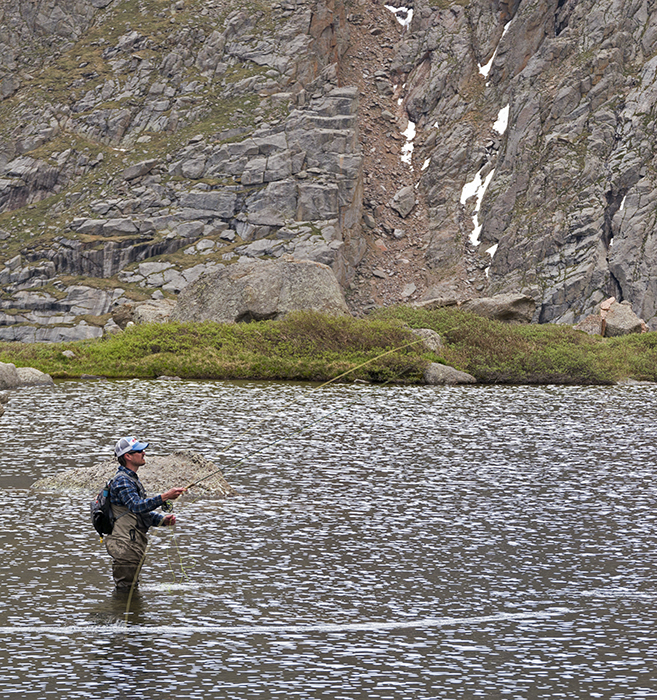 Photo by Jonathan Hill Mountainsmith Brand Ambassador taken while fishing for trout in the Colorado high country, Summer 2014