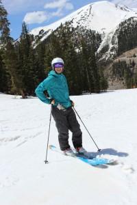 Mountainsmith's president Jay Getzel, telemark ski, skiing at Arapahoe Basin
