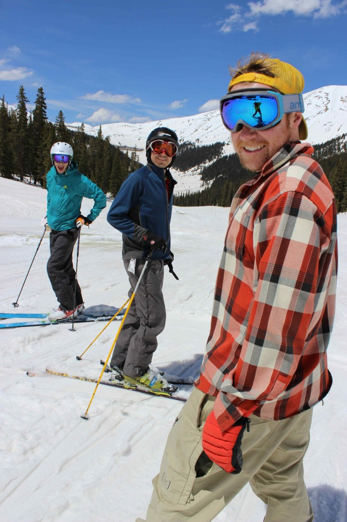Jay Getzel, Stephen Serna, and Jay Getzel at Arapahoe Basin.