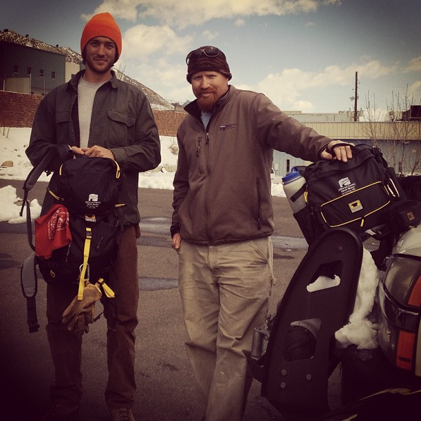 JeffCo Trail Crew workers with their embroidered Mountainsmith bags