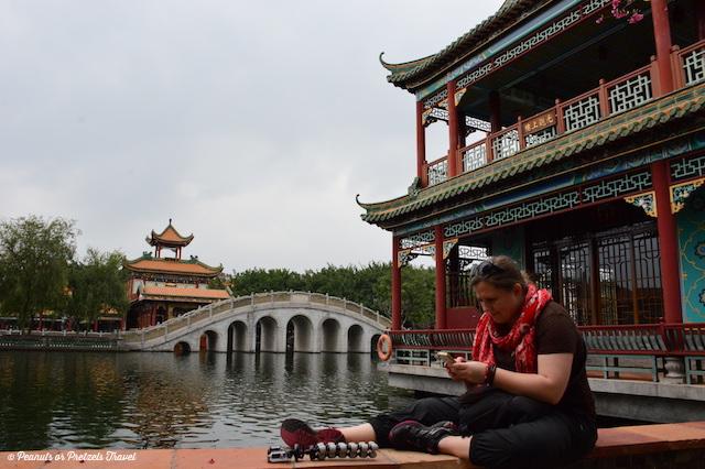 Liz Wilson reading in China