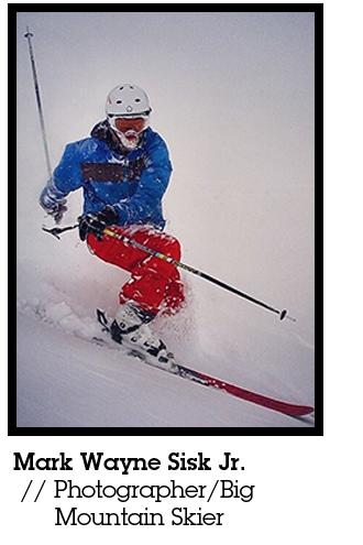 Mark Wayne skiing
