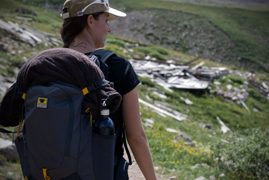 Bailey hikes with the Mountainsmith Wraith 25 up Mt. democrat