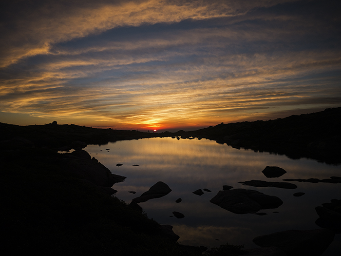 Beautiful sunset taken in the Colorado high country over an unnamed lake by Mountainsmith Ambassador Jonathan Hill