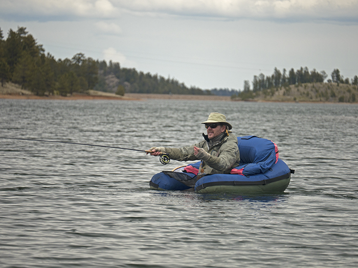 fisherman on a float tube