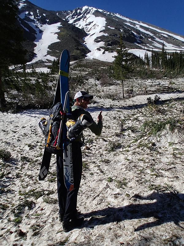 Jay Getzel (Mountainsmith President) rocking the Mayhem 35 All-Terrain pack at the base of Torrey's Peak