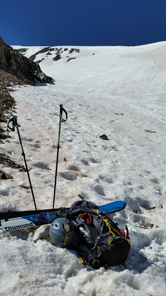 The Mountainsmith Mayhem and Glissade trekking poles at 12,000 feet on Torrey's Peak