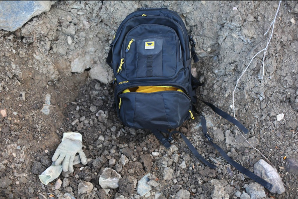 Trail dig days call for rugged protection for Ted TBVO Van Orman's camera equipment, and the Mountainsmith Borealis AT camera and photography and videography backpack offers just that.