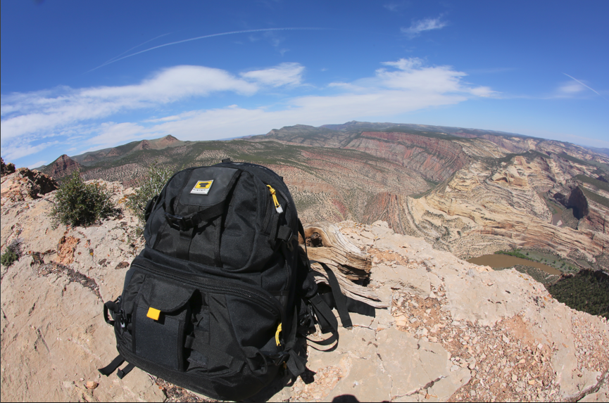 Mountainsmith Borealis AT camera photography backpack on a vista at Dinosaur National Monument