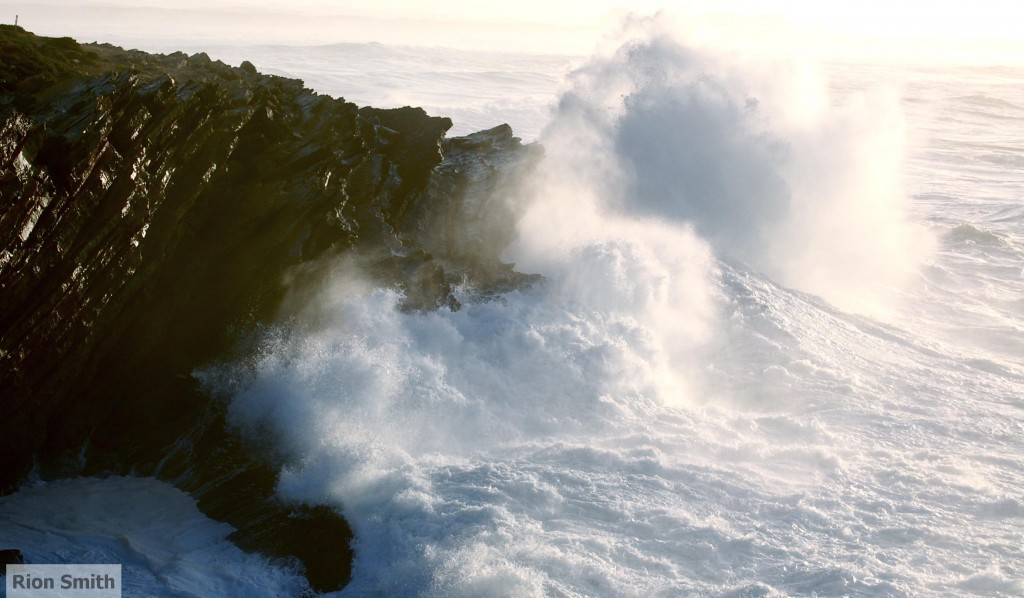 Waves crash from the Atlantic Ocean in Portugal