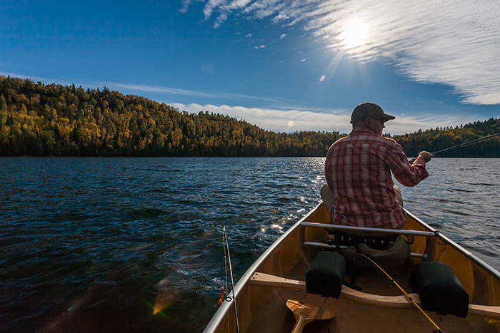 Jonathan Hill fishing in Boundary Waters Canoe Area