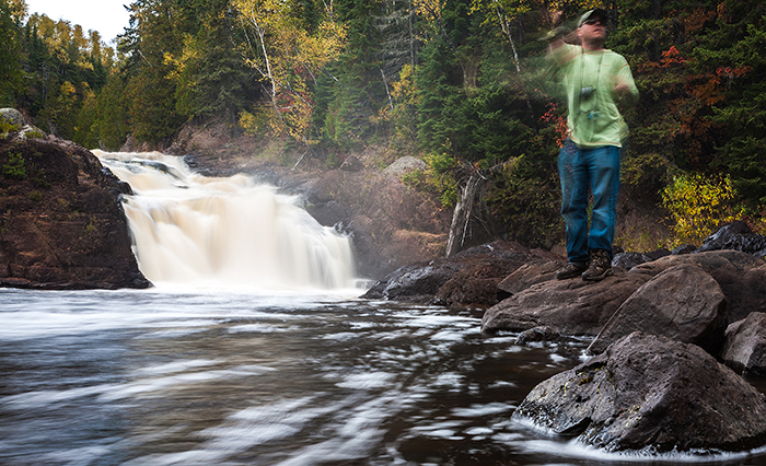 Jonathan Hill fishing in the Boundary Waters Canoe Area of minnesota