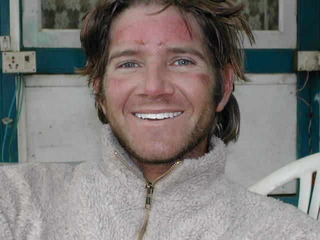 Sean Swarner of Cancer Climber shortly after summitting Mount Everest