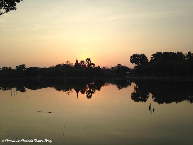 Sunrise over Sukhothai Thailand - Peanuts or Pretzels Travel Blog