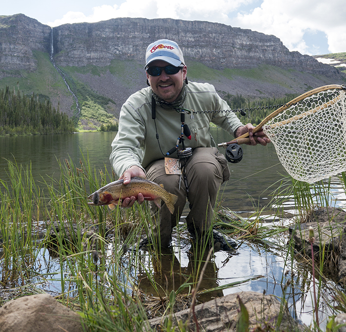 Tom with a nice cutthroat trout