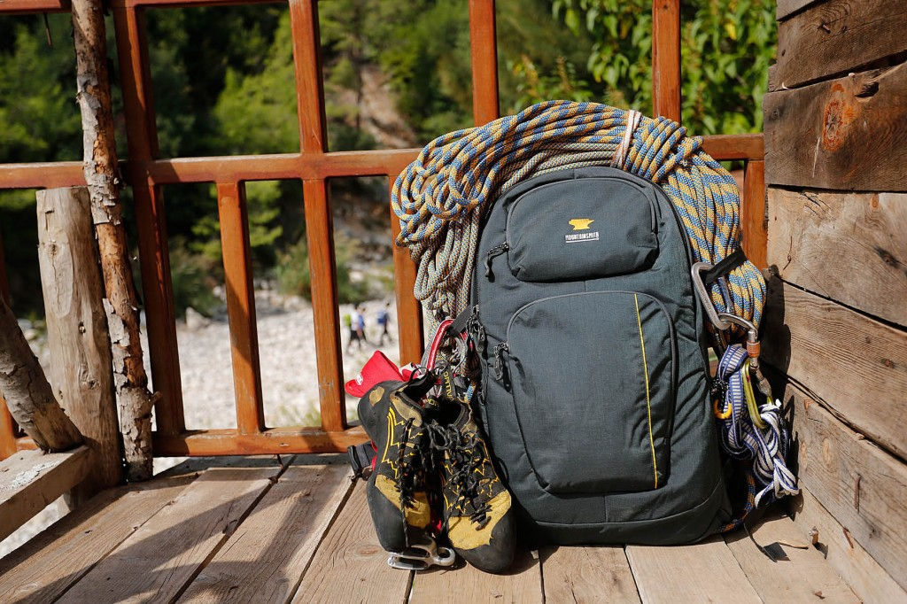 The Mountainsmith Parallax photographer bag is ready for a day of climbing in Turkey