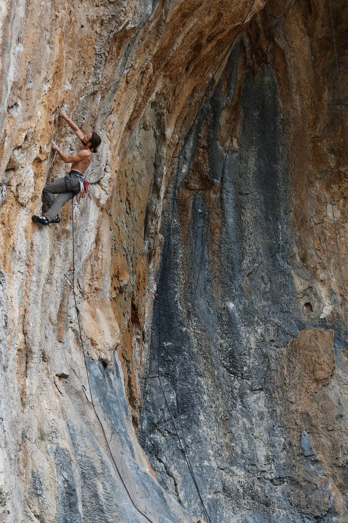 a climber on a wall in turkey
