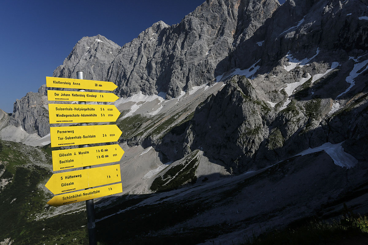 trail map to klettersteig in Italy