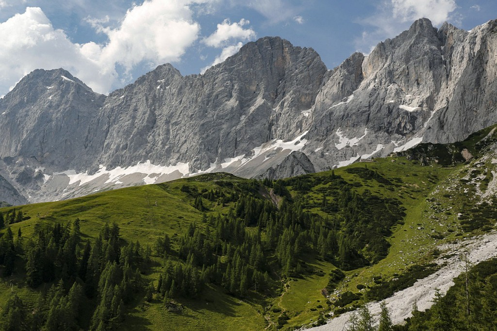 view of the Dachstein Massif