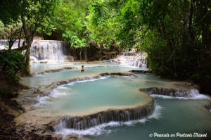 Waterfalls in Luang Prabang, Laos