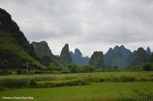Yangshuo Mountains in china
