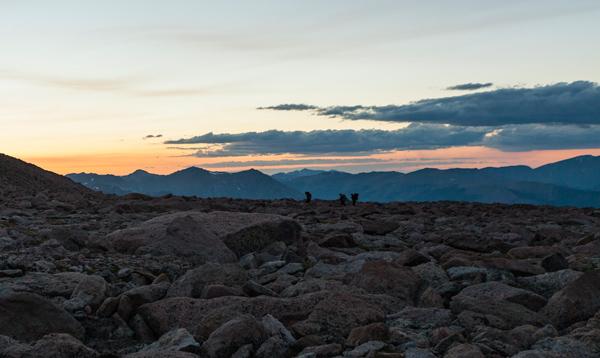 Long's Peak landscape in Rocky Mountain National Park, Colorado