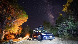 My home under the vivid night sky of Zion