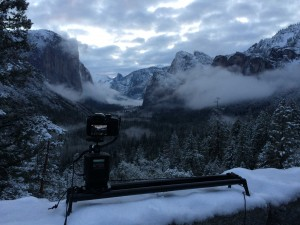 Sunrise Time-lapse in the snow covered Yosemite Valley