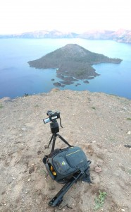 Shooting a sunset time-lapse at Creater Lake, OR
