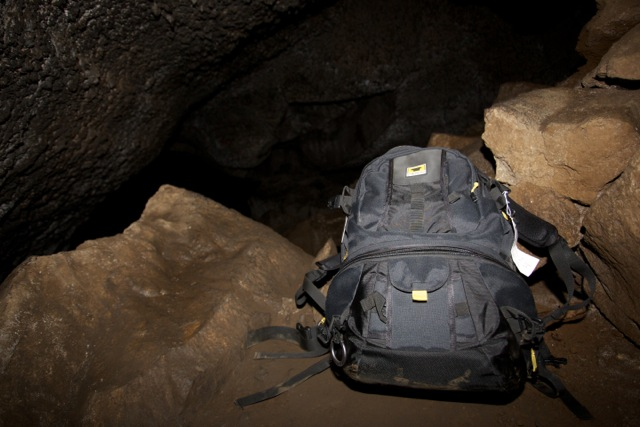 The Mountainsmith Borealis AT photography backpack seen in Skylight Caves