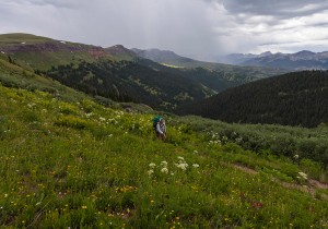 Hiker walks section of the Colorado Trail from SIlverton to Durango