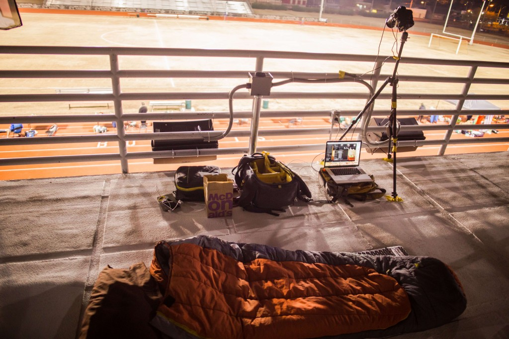Time Lapse set up at the Desert Solstice Ultra Marathon Race in Pheonix Arizonia