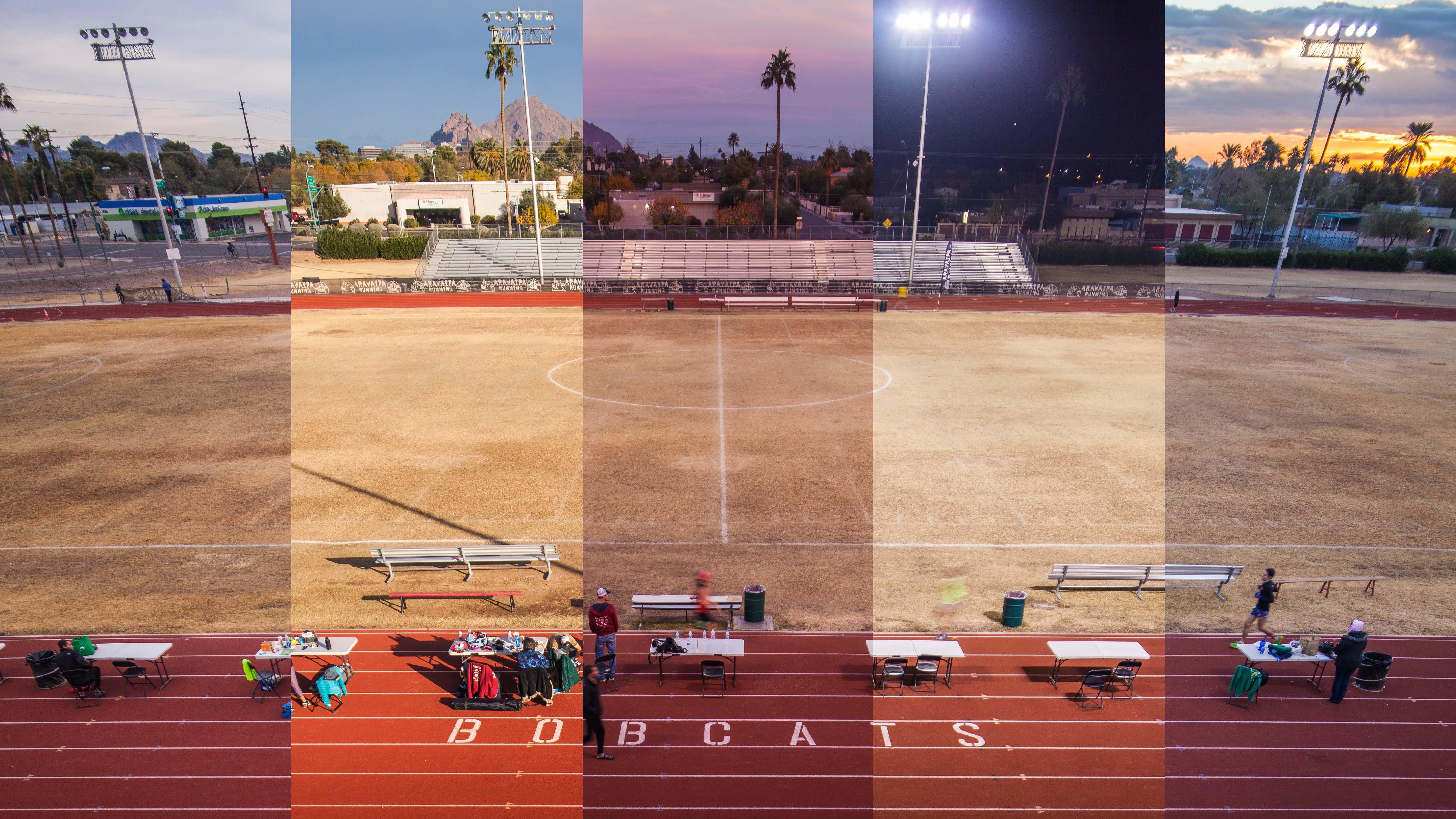 Time lapse of the Desert Solstice Ultra Marathon Race in Phoenix Arizona